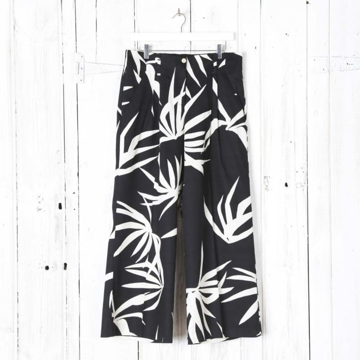 BEATRICE B Palm Print Culotte Trousers