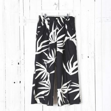 Palm Print Culotte Trousers