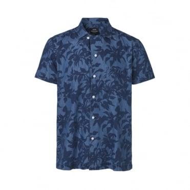 Palm Print Short Sleeve Shirt