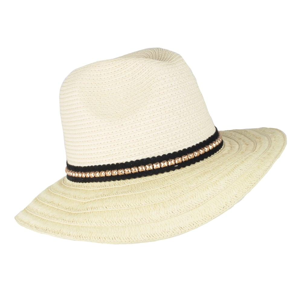 1aad3a717ed60 Dents Paper Straw Fedora Hat Fabric Hatband