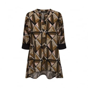 Patterned Shirt With Cuffs