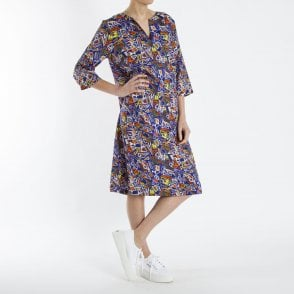 2161c848dee84b Micha Oriental Lily Print Dress In Pink | Collen & Clare