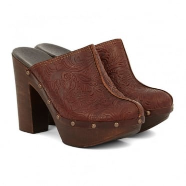 Cordoban Clog Mule - Brown Clog