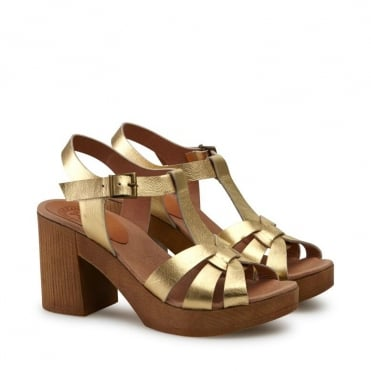 Jude Sandal in Gold