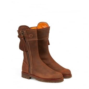 Midcalf Tassel Gaucho Boot in Nut