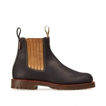 Oscar Boot in Black/Bronze