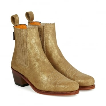 Salva Metallic Cuban Boot in Bronze