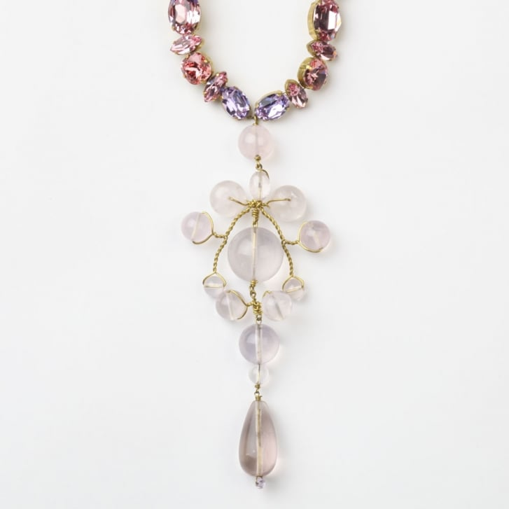 PHILIPPA KUNISCH Bling Sitwell Necklace in Pale Pink 0717