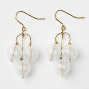 Bubble Earrings in White 0717