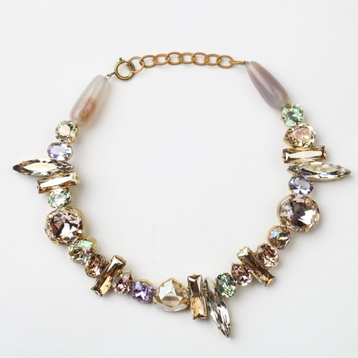 PHILIPPA KUNISCH Cruella Necklace in Clear, Pale Peach and Soft Green 0717