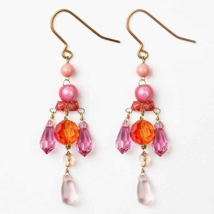 PHILIPPA KUNISCH Droplet Earrings in Orange + Pink /0717
