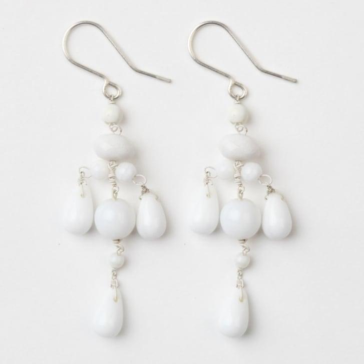 PHILIPPA KUNISCH Droplet Earrings in White /0717