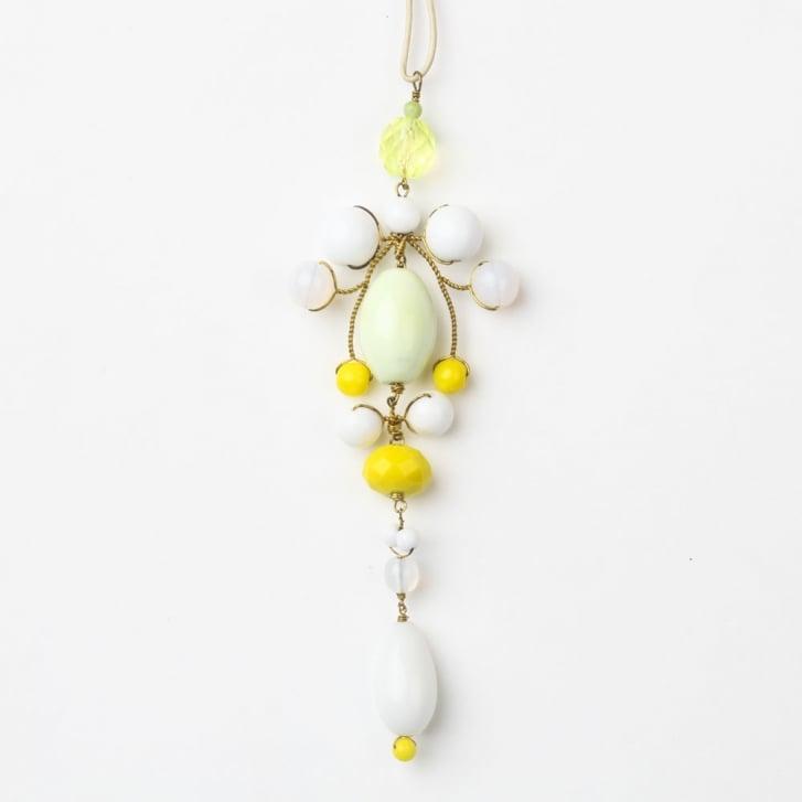 PHILIPPA KUNISCH Gypsy Necklace in White + Yellow 0717