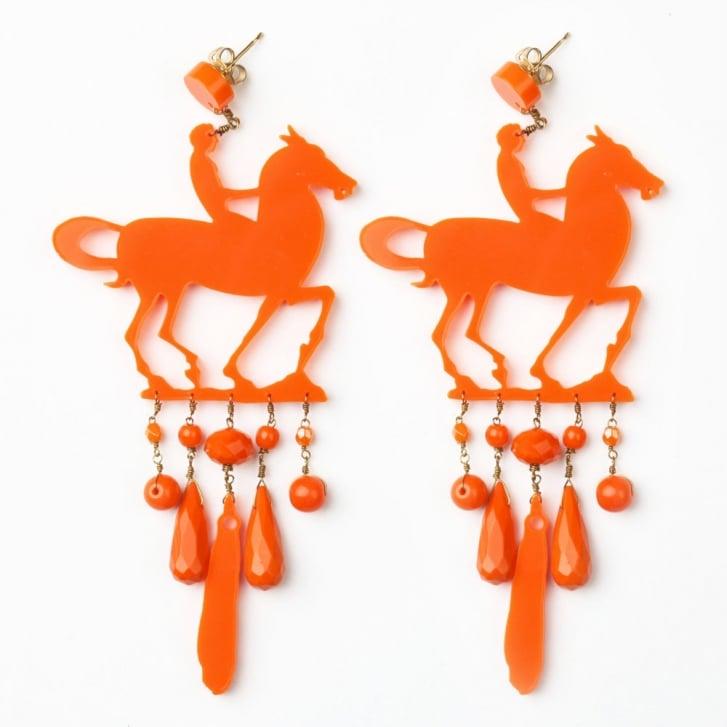 PHILIPPA KUNISCH Horse Earrings in Orange /0717