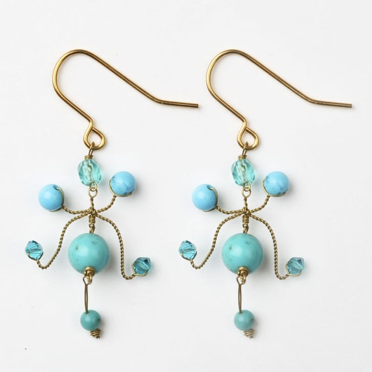 PHILIPPA KUNISCH Kite Earrings in Turquoise/0717
