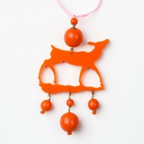 Little Bambi Necklace in Orange 0717