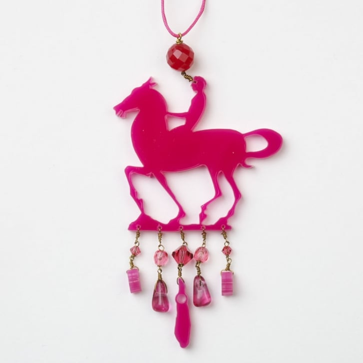 PHILIPPA KUNISCH Little Horse Necklace in Hot Pink 0717
