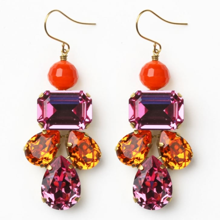 PHILIPPA KUNISCH Lotus Earrings in Pink +Orange 0717