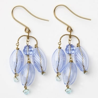 Lozenge Earrings in Blue 0717