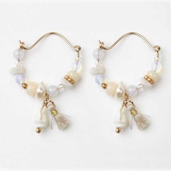 PHILIPPA KUNISCH Mini Gypsy Hoop Earrings in Shell 0717