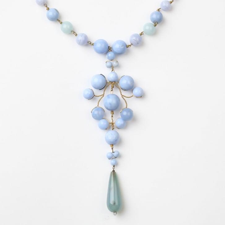 PHILIPPA KUNISCH Sitwell Necklace in Pale Blue 0717