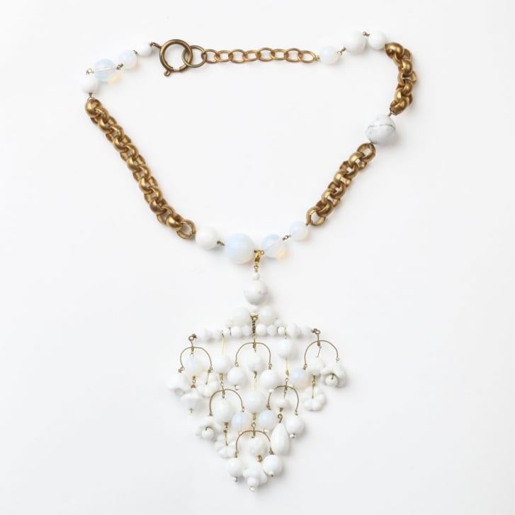 PHILIPPA KUNISCH XL Diamond Necklace in White 0717