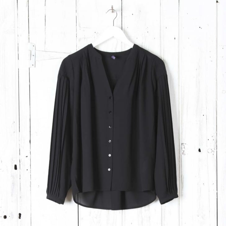 NYDJ Pleated Button Up Blouse