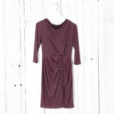 Printed Gathered Dress