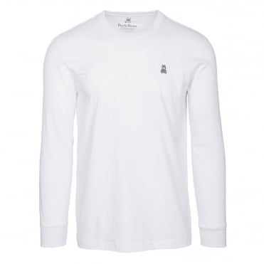 Classic Long Sleeve Crew Neck Jumper in White