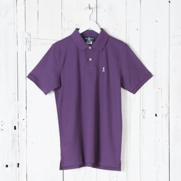Classic Polo Shirt in Eggplant