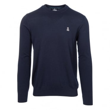 Essential Cotton Crew in Navy