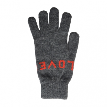 Love Glove in Grey / Red