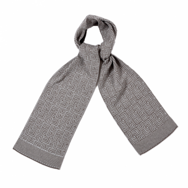 Maze Scarf in Taupe Grey