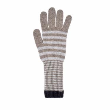 Stripe Glove in Taupe Grey