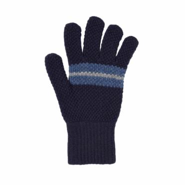 Tuck Gloves in Navy / Denim