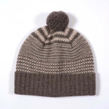 Two Colour Multi Tuck Stitch Hat