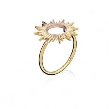 Electric Goddess Sun Ray Gold Adjustable Ring