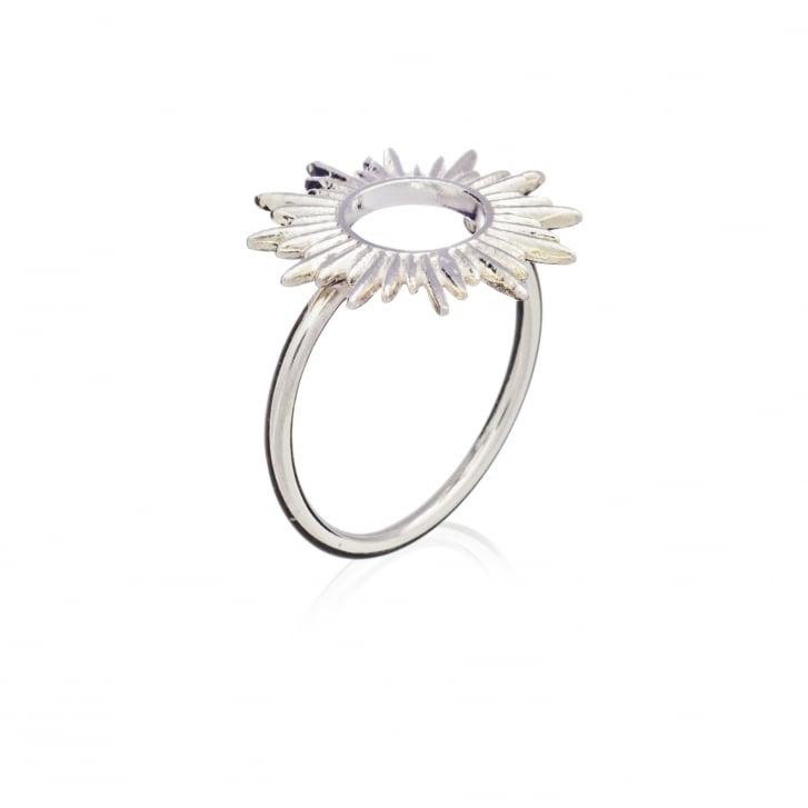 RACHEL JACKSON Electric Goddess Sun Ray Silver Adjustable Ring