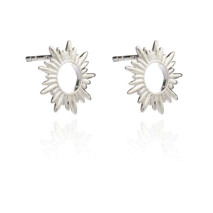 RACHEL JACKSON Electric Goddess Sun Ray Silver Stud Earrings