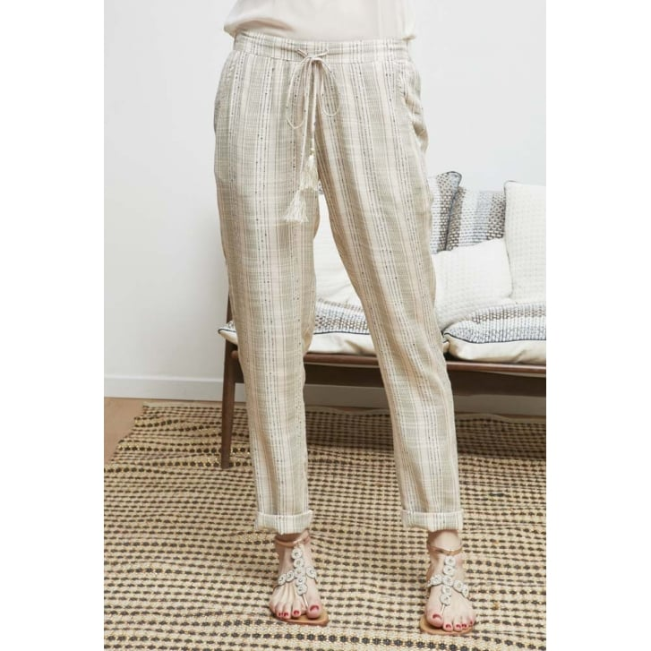 STELLA FOREST Relaxed Linen Stripe Trouser