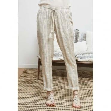 Relaxed Linen Stripe Trouser