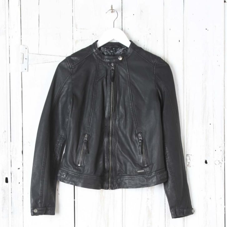 RINO & PELLE Jalena Leather Jacket in Black