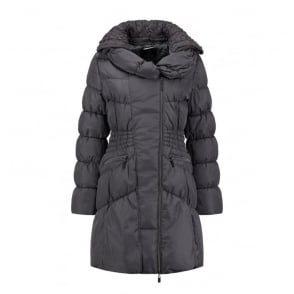 Randy Faux Memory Coat in Black