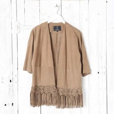 Sulia Fringe Suede Coat