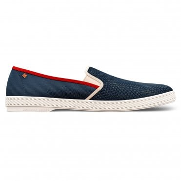 Le Grand Bleu Canvas and Mesh Shoe in Navy