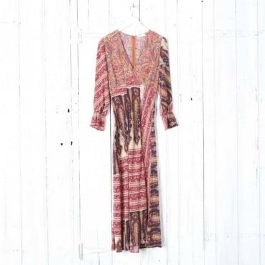 Aoife V Neck Midi Dress with Split