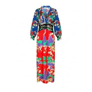 Fedora Midi Wrap Dress in Mixed Cherry Blossom