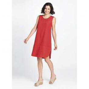 Rosy Linen Dress
