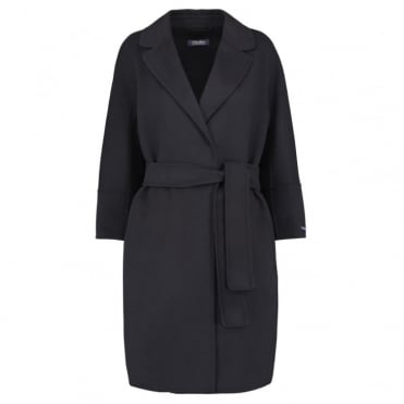 Arona Pure Wool Coat in Black