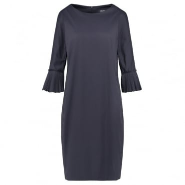 Capra Cotton Dress in Midnight Blue